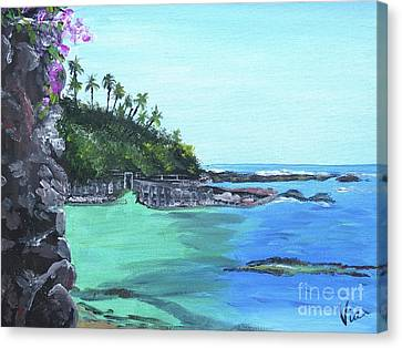 Aqua Passage Canvas Print by Judy Via-Wolff