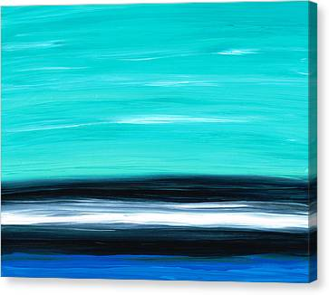 Aqua Sky - Bold Abstract Landscape Art Canvas Print by Sharon Cummings