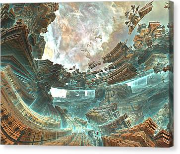Aqua Space Shipyard Canvas Print by Dr-Pen
