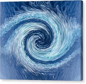 Aqua Swirl Canvas Print