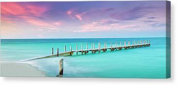 Beach Landscape Canvas Print - Aqua Waters  by Az Jackson