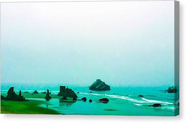 Aqua Waters Canvas Print by Pacific Northwest Imagery