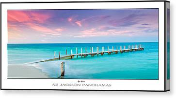 Aqua Waters Poster Print Canvas Print