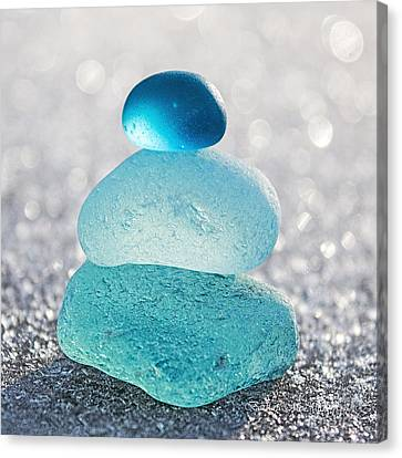 Aquamarine Ice Canvas Print by Barbara McMahon