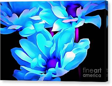 Aquarian Blues Canvas Print by Krissy Katsimbras