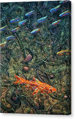 Abstraction Canvas Print - Aquarium 2 by James W Johnson