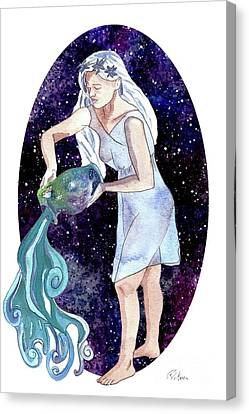 Aquarius Water Bearer Canvas Print by D Renee Wilson