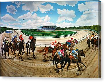 Aqueduct Racetrack Canvas Print by Bonnie Siracusa