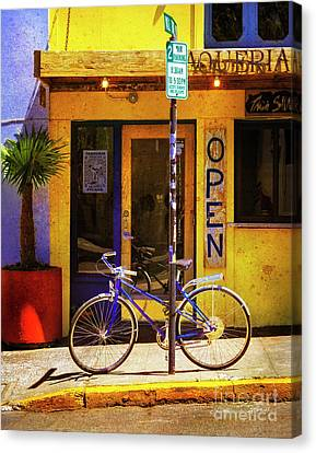 Canvas Print featuring the photograph Aqueria Bicycle by Craig J Satterlee