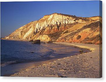 Aquinnah Gay Head Cliffs Canvas Print by John Burk