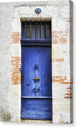 Aquitaine Blue Door 2 Canvas Print by Georgia Fowler