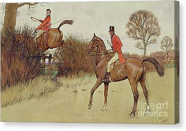 Ar Never Gets Off - Hunting Scene Canvas Print