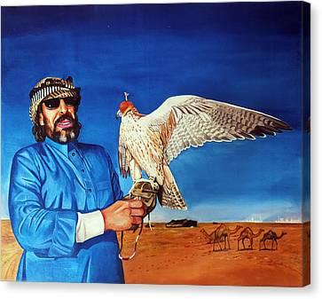 Arab With An Portrait Eagle  Canvas Print by Arun Sivaprasad