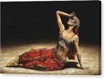 Ballet Dancers Canvas Print - Arabian Coffee Awakes by Richard Young