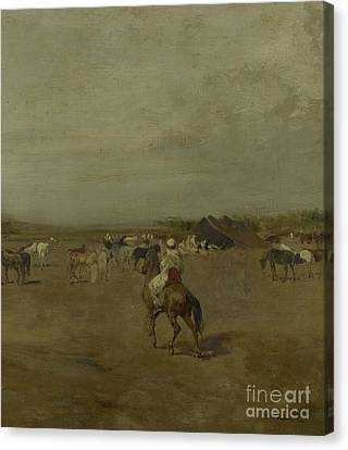 Arabian Encampment Canvas Print by Eugene Fromentin