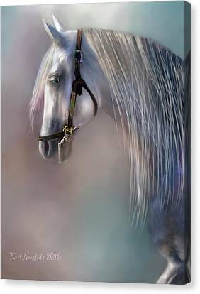 Arabian Grey Canvas Print by Kari Nanstad