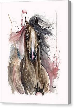 Arabian Horse 2013 10 15 Canvas Print by Angel Tarantella