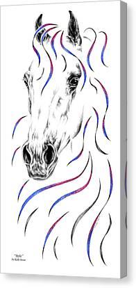 Arabian Horse Style Canvas Print by Kelli Swan