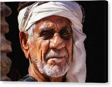 Arabian Old Man Canvas Print by Vincent Monozlay