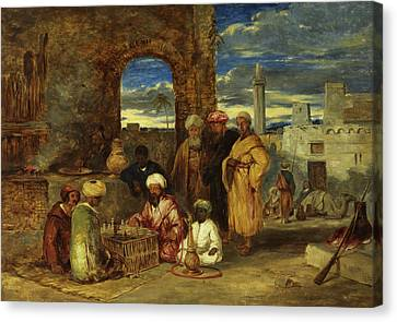 Arabs Playing Chess, 1843 Canvas Print by William James Muller