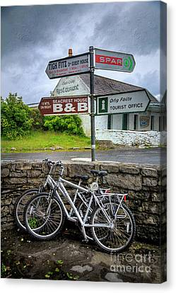 Canvas Print featuring the photograph Aran Island Bicycles by Craig J Satterlee