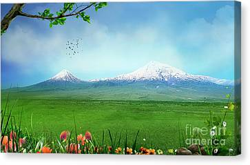 Araratian Field Canvas Print