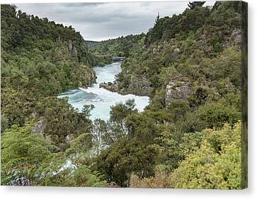 Canvas Print featuring the photograph Aratiatia Rapids by Gary Eason