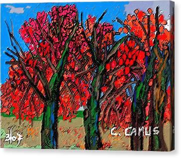 Arboles - Figuras Canvas Print by Carlos Camus