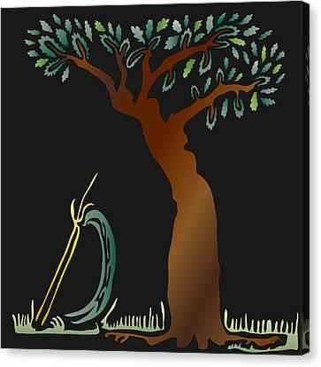Arbor Scene Canvas Print