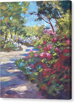 Arboretum Garden Path Canvas Print by David Lloyd Glover