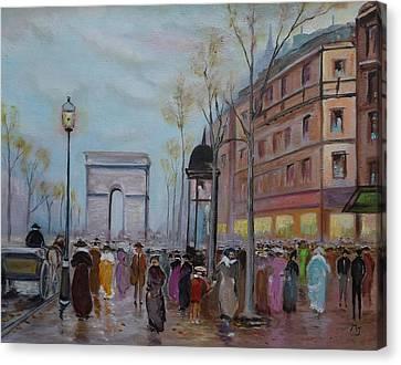 Arc De Triompfe - Lmj Canvas Print by Ruth Kamenev