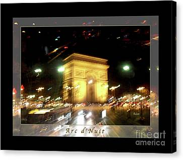 Arc De Triomphe By Bus Tour Greeting Card Poster V1 Canvas Print by Felipe Adan Lerma