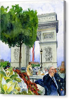 Arc De Triomphe Canvas Print by John D Benson