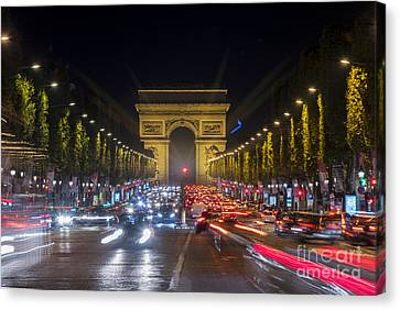 Long Street Canvas Print - Arc De Triomphe by Juli Scalzi