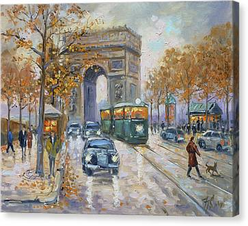 Canvas Print - Arc De Triomphe, Paris by Irek Szelag