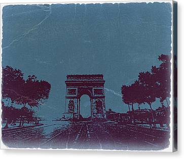 Arc De Triumph Canvas Print by Naxart Studio