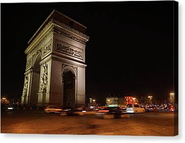 Arc Du Triomphe Paris Canvas Print by Erik Tanghe