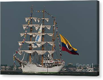 Arc Gloria Colombian Tall Ship Canvas Print by Dale Powell