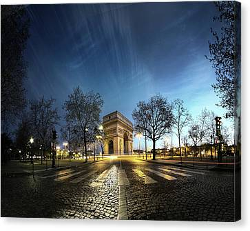 Arc Of Triumph Canvas Print by Pascal Laverdiere