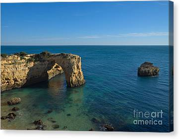 Arch And Ocean In Albandeira Canvas Print