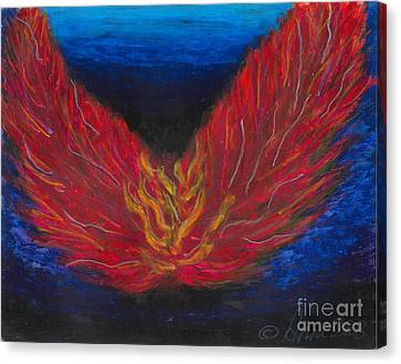 Canvas Print featuring the painting Arch Angel Gabrielle  by Ania M Milo