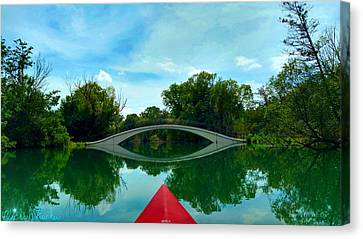 Arch Bridge Over Canal Canvas Print