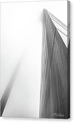 Arch In Fog Canvas Print by Jae Mishra