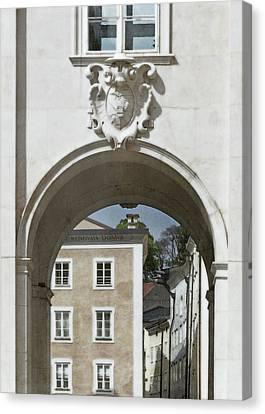 Arch In Salzburg Austria Canvas Print by Brooke T Ryan
