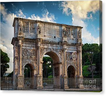 Arch Of Constantine Canvas Print by Inge Johnsson