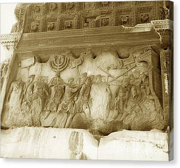 Arch Of Titus Canvas Print by Photo Researchers, Inc.