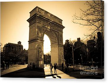 Arch Of Washington Canvas Print by Joshua Francia