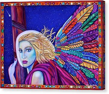 Archangel Ariel Canvas Print by Lori Miller