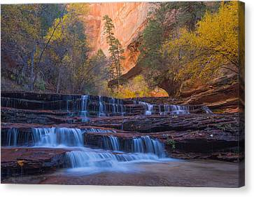 Canvas Print featuring the photograph Archangel Falls In Autumn by Patricia Davidson