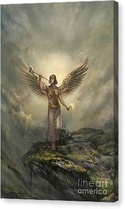Archangel Gabriel Canvas Print by Robert Greco